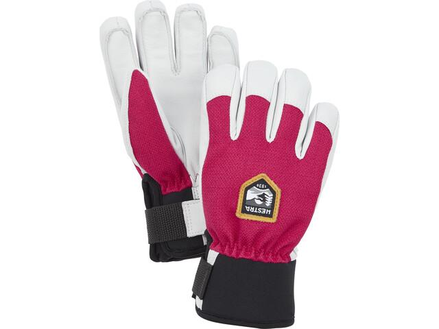 Hestra Army Leather Patrol 5-Finger Handschuhe Kinder fuchsia